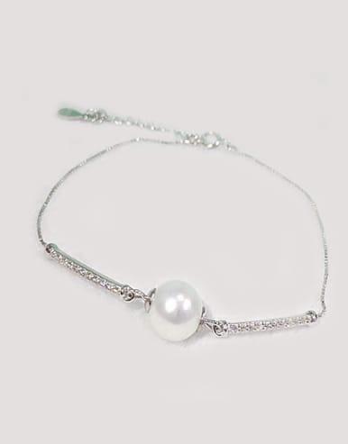 S925 silver shell pearl fashion bracelet