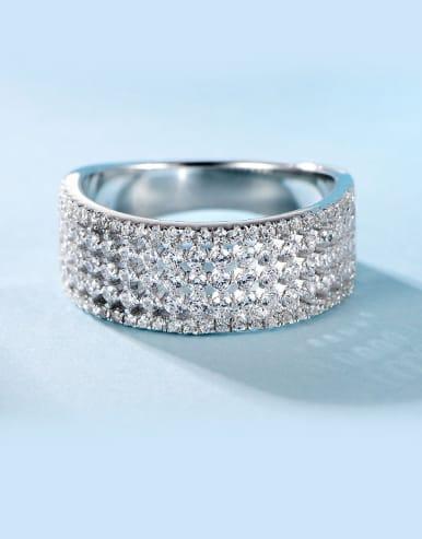 Women 925 Silver band ring
