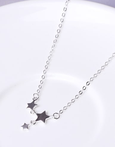 Simple Little Stars 925 Silver Necklace