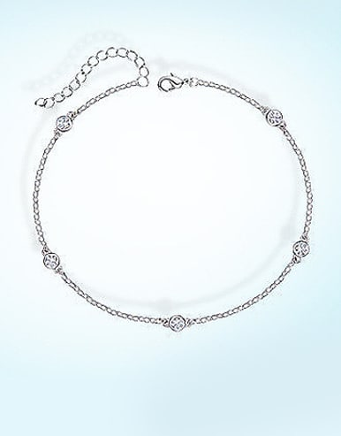 925 Silver Round-shaped Anklet
