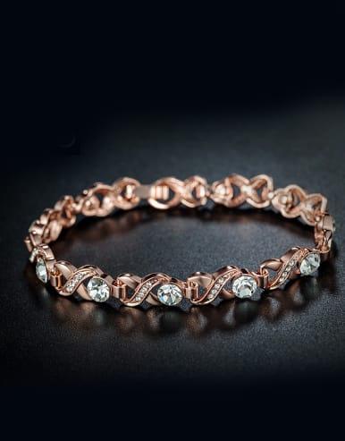 Rose Gold Plated Zircon Bracelet