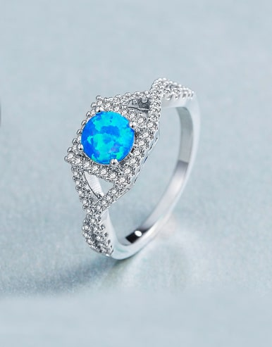6MM Opal Stone Engagement Ring