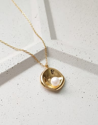 925 Sterling Silver With 18k Gold Plated Trendy Geometric Necklaces
