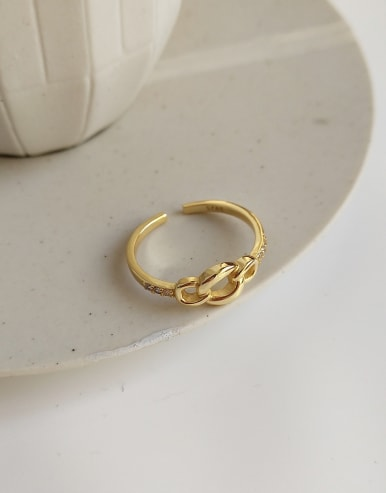 925 Sterling Silver With 18k Gold Plated Simplistic Rings
