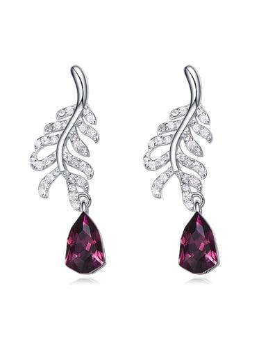 Fashion Swarovski Crystals 925 Silver Stud Earrings