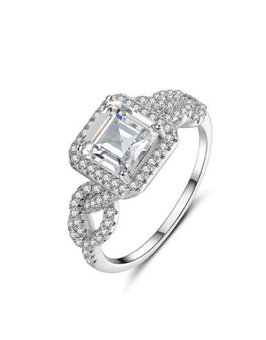 High-grade Zircon Engagement Ring