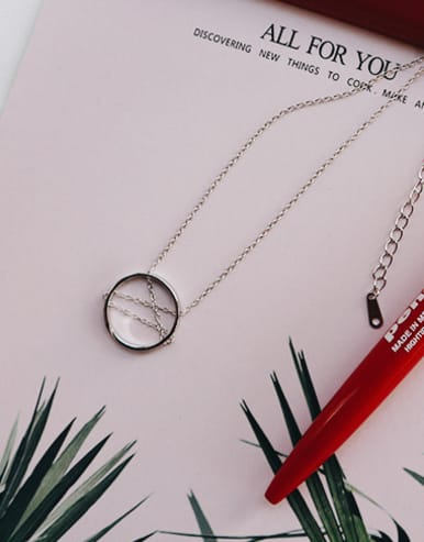 925 Sterling Silver With Platinum Plated Trendy Round Necklaces