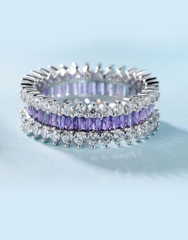 Purple Zircon Multistone ring