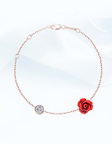 S925 Silver Rose Gold Anklet
