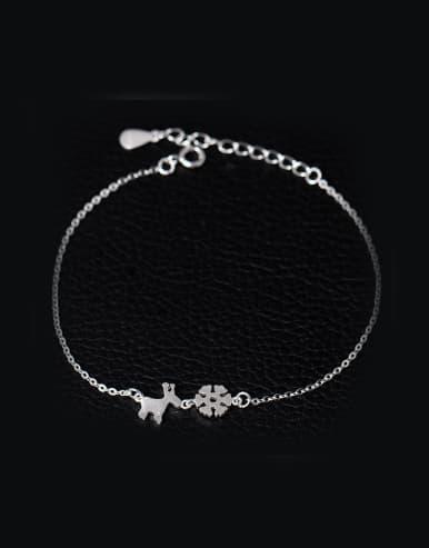 Christmas Snowflake Deer Simple Bracelet