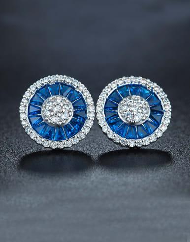Blue Flower Cluster earring