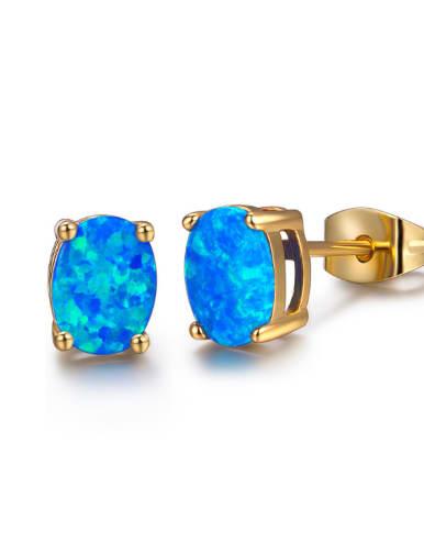 Popular Oval Shaped Fashion Stud Earrings