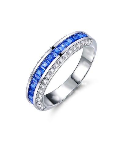 Blue Opal Stone Multistone ring