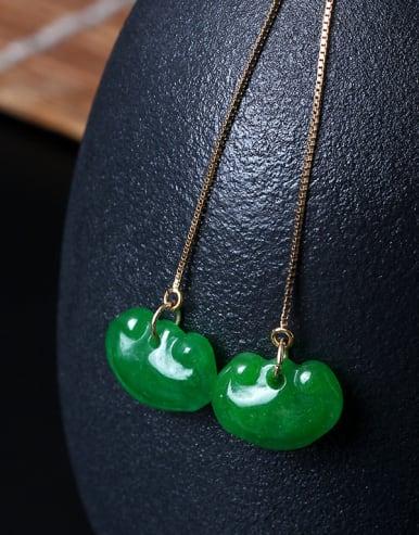 Handmade Lock Women Line Earrings