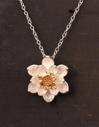 Lotus Flower Women Clavicle Necklace