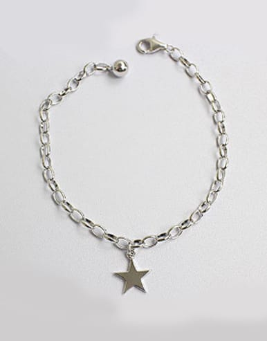 Simple Little Star Silver Women Bracelet