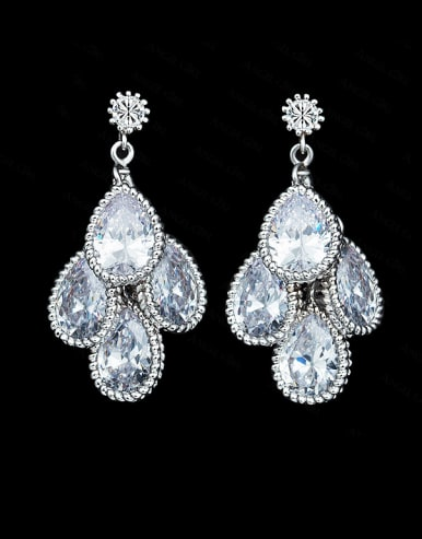 Water Drop Shaped Cluster earring