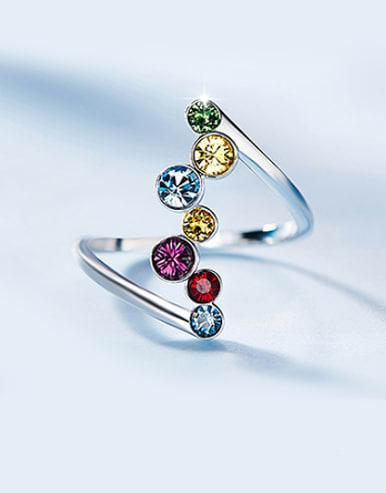 Swarovski Crystals Colorful Statement Ring
