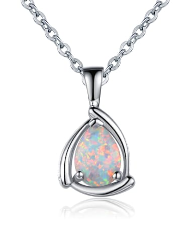 Copper inlay Opal 6*8mm necklace