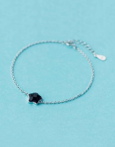 S925 silver purple agate sweet star bracelet