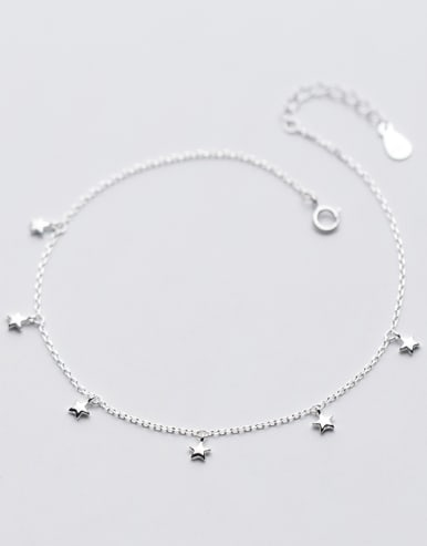 Temperament Adjustable Star Shaped S925 Silver Foot Jewelry