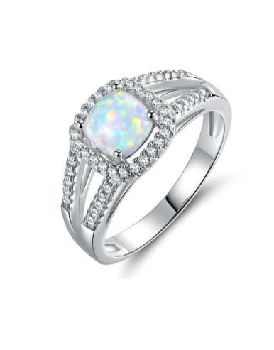 Geometric Shaped Engagement Ring