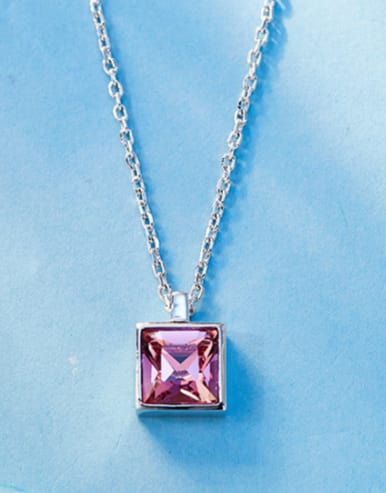 2018 Square-shaped Swarovski Crystal Necklace