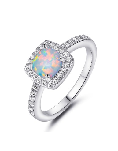 Square-shaped Engagement Ring