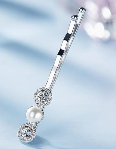 Swarovski Crystal Pearl Hairpin