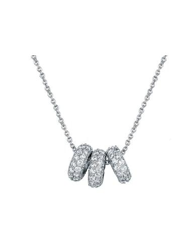 2018 Round Zircon Necklace