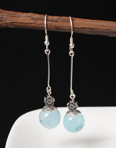 Temperament Transparent Crystal Hook Earrings