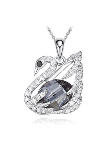 Fashion Swan Swarovski Crystals Copper Pendant
