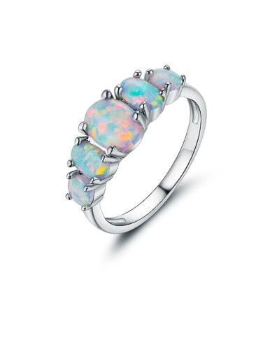 High-grade Opal Stone Multistone ring