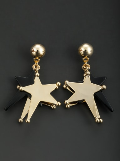 New design Gold Plated Star Drop drop Earring in Multicolor color