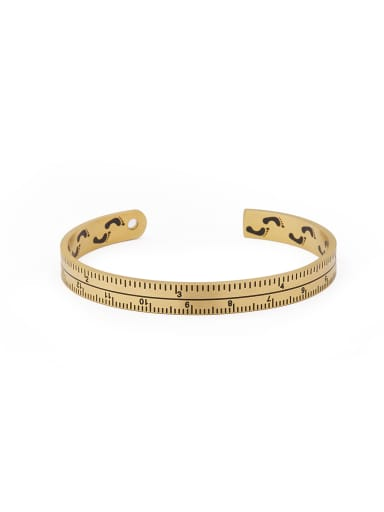 The new Gold Plated Titanium Statement bangle with Gold