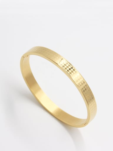 Gold  Youself ! Stainless steel   Bangle  63MMX55MM