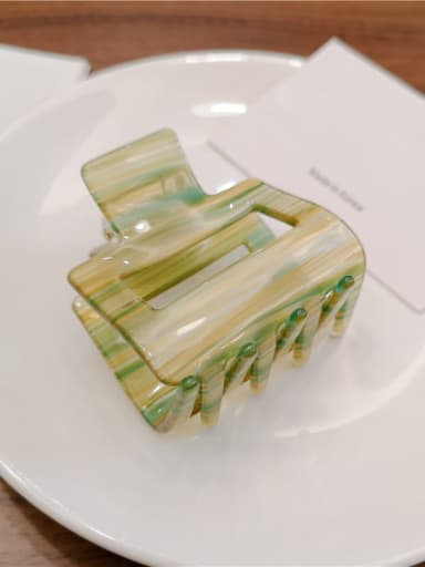 Water green Alloy With Cellulose Acetate Fashion Simple geometric  Barrettes & Clips