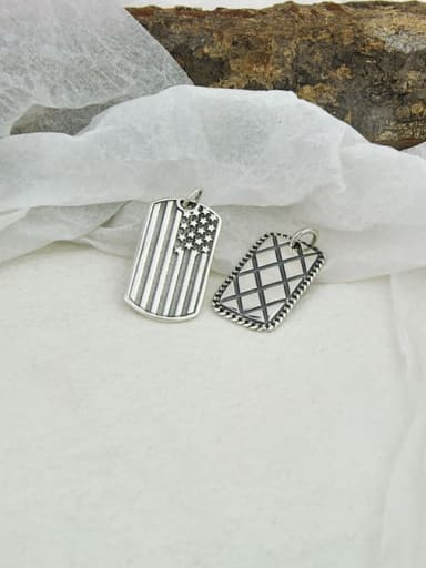 925 Sterling Silver With Antique Silver Plated Simplistic Geometric Pendants
