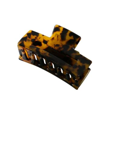 Tortoiseshell - 7.5cm Alloy With Cellulose Acetate  Fashion Geometric Barrettes & Clips