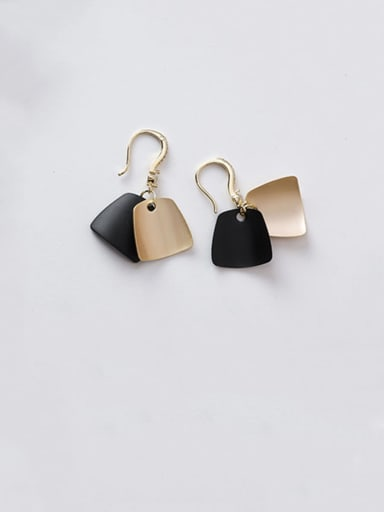 Alloy With Gold Plated Fashion Geometric Hook Earrings