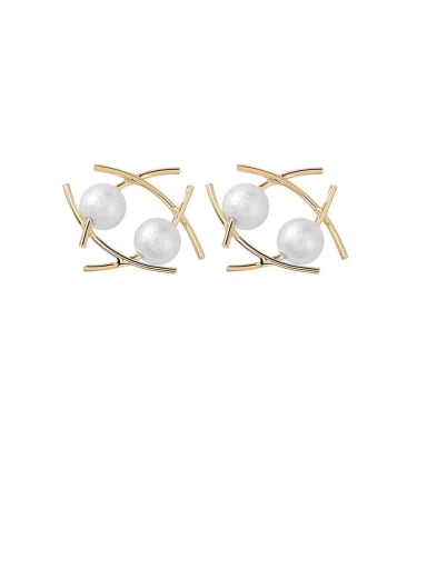 Alloy With Gold Plated Fashion Irregular Stud Earrings