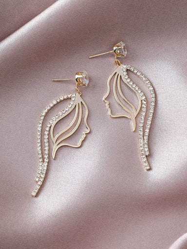 Alloy With Gold Plated Trendy Irregular Drop Earrings