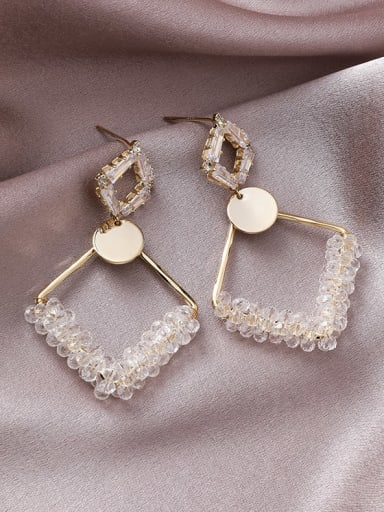 Alloy With Gold Plated Fashion Geometric Drop Earrings