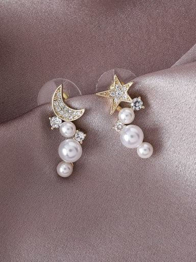 Alloy With Gold Plated Fashion Star Drop Earrings