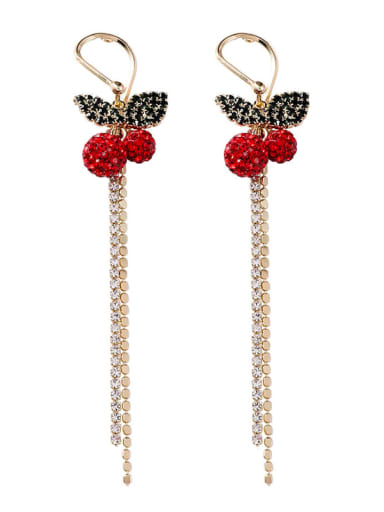 Alloy With Gold Plated Fashion Friut Threader Earrings