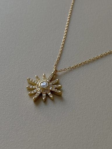 925 Sterling Silver With Gold Plated Simplistic Hexagram Star Necklace