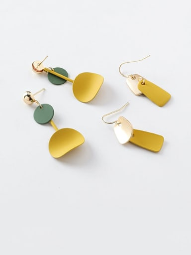 Alloy With Rose Gold Plated Simplistic Geometric Hook Earrings