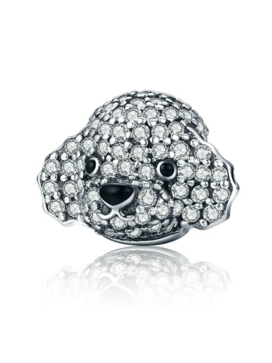 925 silver cute poodle charm