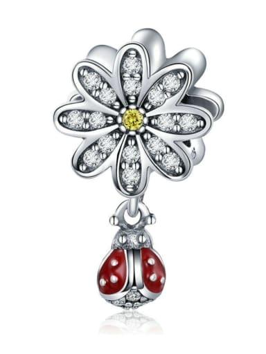 925 silver cute ladybug charm