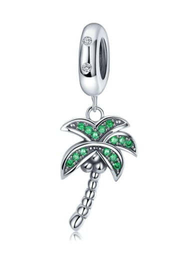 925 Silver Fresh Coconut Tree charm